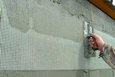 Армирование поверхностей, подверженных растрескиванию либо уже имеющих трещин