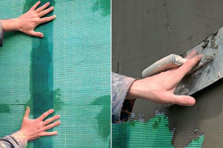 Армирование стыков между листовыми материалами перед их выравниванием